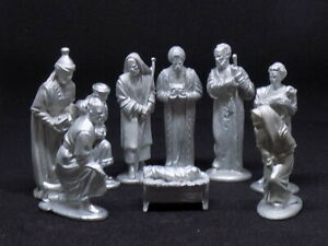 NATIVITY SET WHITE METAL FROM A  54mm MOULDS