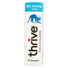 thrive Cat 100% White Fish Treats Snacks Tube - 15g - Real Natural Freeze Dried
