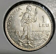 1914 Romania 1 Leu BU -MS