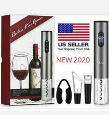 Electric Wine Opener Bottle Opener Kit Corkscrew W/ foil cutter,Stopper & pourer