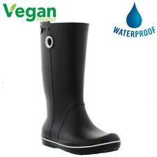 Crocs Crocband Jaunt Vegan Wellies Womens Black Wellington Boots Size 4-8