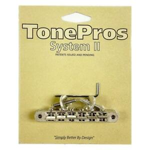 TonePros ABR1 Replacement Tune-O-Matic Bridge AVR2-AN Aged Nickel