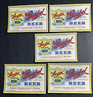 Lot Of 5 Goebel Beer Labels Preprohibition NOT IRTP  Detroit Alpena Michigan
