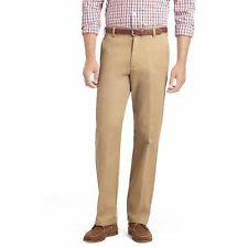 NWT IZOD Men's  Heritage Chino Wrinkle Free Fat Front Straight Khaki Pants 40X30