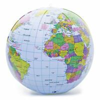 PVC Inflatable Blow Up World Globe 30CM Earth Atlas Ball Map Geography Toy