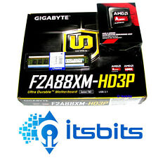 GIGABYTE F2A88XM-HD3P AMD + AMD A6 7400K FM2 3.9GHz UNLOCKED BLACK CPU + 8GB RAM