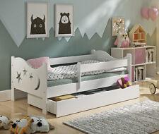 Charming Kinderbett Chrisi Massiv Matratze Lattenrost Schublade 140x70cm Weiß Natur  Grau Great Pictures