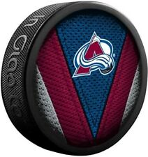 Colorado Avalanche Nhl Team Logo Stitch Souvenir Hockey Puck