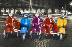 "RETRO VESPA ADVERTISING CANVAS ART PRINT poster scooter 8""X 10"""