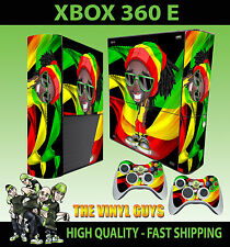 XBOX 360 E RASTA MAN DREADLOCK CAPPELLO ERBA ADESIVO SOTTILE & 2 TAPPETINO SKIN