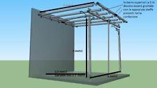 Pergola in ferro zincato o verniciato 5X3 m addossata a muro tettoia pergolato