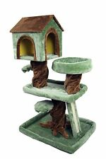 "39"" Special Cat Tree Robin Hood Tree House Playhouse Bed Kitten Tower Condo"