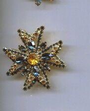 Blue Topaz Huge Maltese Prong Set pin #2
