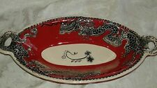 Blue Sky Clayworks RARE Dragon Platter/Bowl with Handles Heather Goldminc NWT
