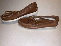 Lauren Ralph Lauren Yarina Boat Shoes Loafer Brown Women's Size 6.5 B Medium