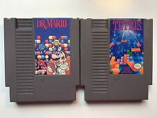 TETRIS and DR. MARIO -- NES Nintendo 2 Original Puzzle Games CLEAN TESTED