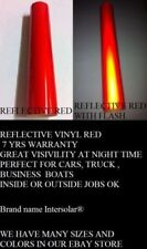 """24"""" x 75  ft  RED  Reflective Vinyl Adhesive Cutter Sign Special Price Deal"""