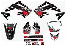 KIT ADESIVI GRAFICHE LOVE DIRT BLACK  EASY HONDA CRF 450 2002 2003 2004