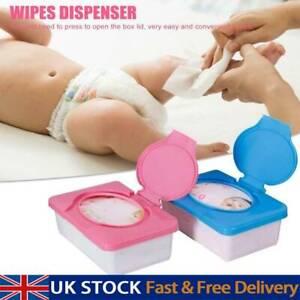 Wet Wipes Dispenser Holder Tissue Storage Box Case With Lid For Home Office UK