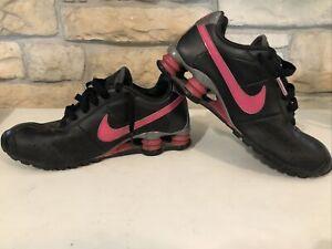 Nike Shox Classic II Womens Running Shoes Sz 9.5M Black Pink Silver 343907 061