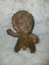 Rare Vintage African Male Clay Fertility Statue Figurine