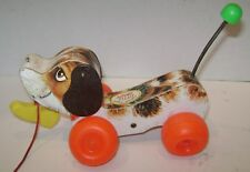 VINTAGE FISHER PRICE LITTLE SNOOPY PULL TOY W/ LEASH & SHOE #693 1965