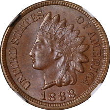 1888 Indian Cent NGC MS65BN Superb Eye Appeal Strong Strike