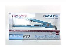 Babyliss Pro Nano Titanium Blue Flat Iron 1.25 Inch - NEW