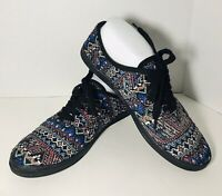 Women's MOSSIMO Tapestry Shoes Sneakers Lace Up Sz 10 Med Width Worn Once!