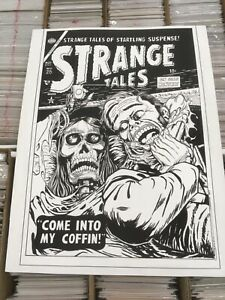 "OA Original art John Sewell Strange Tales Cover Recreation 22.25"" x 28.85"""