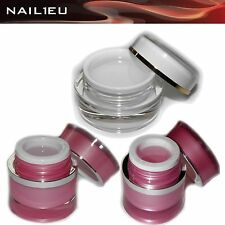 Gel de construction en fibre verre Set Transparent + rose nail1eu 3x15ml / UV