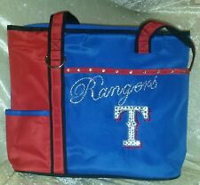 Texas Rangers Blinged Rhinestone MLB Purse Tote Bag ~NEW~