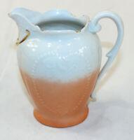 "Vintage White Peach Creamer Pitcher 4.5"" tall"