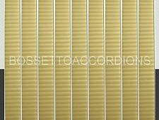 Accordion BELLOWS TAPE GOLD WITH STRIPES Roll 19mm x 8.89m (350 inches) Parts