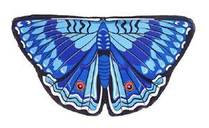 Dreamy Dress-Ups Girls Butterfly Wings Royal Blue Sheer Wearable Pretend Costume