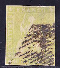 Schweiz-Schweizerische Bundespost-1854-40 Rappen-Münchner Druck-sitzende Helveti