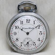 1910 Hampden 21 Jewel RAILROAD Grade No. 105 Pocket Watch Montgomery Dial 16s