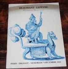 CATALOGUE VENTE 2001 Beaussant Drouot CERAMIQUE PORCELAINES FAÏENCES + résultat