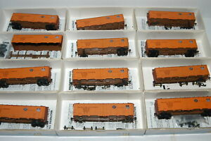 Set of 12 Walthers HO Scale 40' Steel Pacific Fruit Express Reefers 12 Road #s