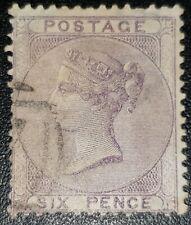 Duzik: Gb Qv Sg70 6d pale lilac used stamp (No486)*