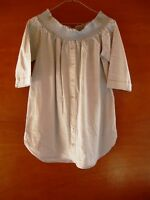 RIVER ISLAND LIGHT GREY OFF THE SHOULDER LONG TOP SIZE 12 - PFK CHARITY