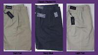 NWT $85 Polo Ralph Lauren Classic Pleated Chino Khaki Shorts Mens 46 48 40T NEW