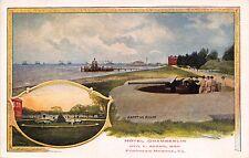 Fortress Monroe Va Hotel Chamberlin Artillery Soldier Multi Image Postcard 1910s