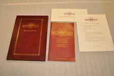 Franklin Mint Monopoly Portfolio w/ Information Booklet & Components Checklist