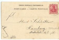 "Seapost 1904 Ost Asiatische Hauptlinie  letter ""e"" HAMBURG , colored PPC , Suez"