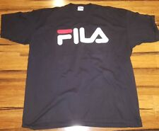 Rare Vtg FILA T Shirt short SLEEVE TEE Spellout MADE IN THE USA hip hop rap