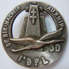 Insigne FFL FRANCE LIBRE QG 50 train 1° DFL numéroté ORIGINAL WWII 1944/1945
