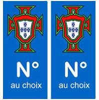 Autocollants FPF Portugal Plaque Immatriculation