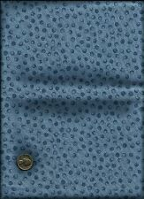 Nice Small Circle & Black Micro Dot Print on dusty lt & med  blue Fabric