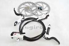 ALHONGA Mountain Bike MTB FR DH XC Hydraulic Disc Brake Set 160mm F&R - White